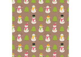 Vetor de padrão de boneco de neve livre