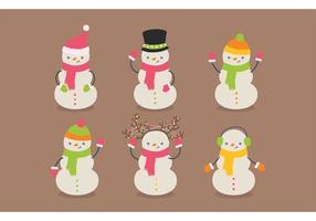 Pacote grátis de vetor de boneco de neve