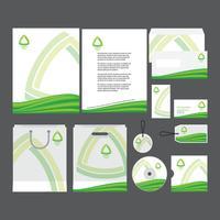 Modelo do perfil da empresa verde vetor