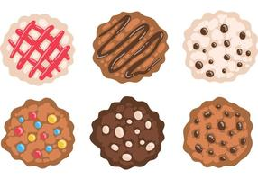 Vetor de cookies de bolachas de chocolate grátis