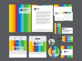 Modelo do perfil da empresa Rainbow vetor