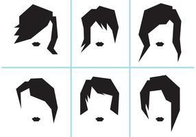 Penteados femininos livres para mulheres vetor