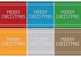 Padrões de camisola do Feliz Natal