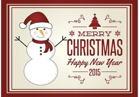 Cartão de Natal bonito vetor