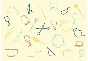Conjunto de vetores de ícones domésticos
