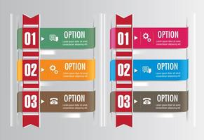 Conjuntos de fitas de opção de vetor
