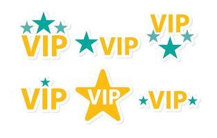 Estrelas vip ícones pacote de vetores