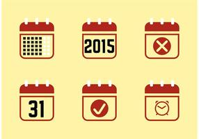 Ícones do Calendário 2015 vetor