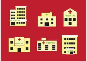 Edifícios hospitalares vetor