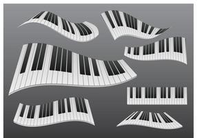 Piano ondulado estilizado vetor