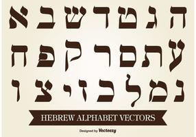 Vector de alfabeto hebraico
