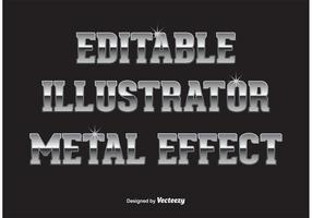 Efeito de texto em metal vetor