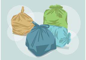 Vetores do saco de lixo