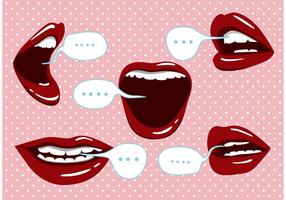 Ícones falantes da boca vetor