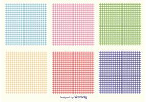 Conjunto de padrões Gingham vetor