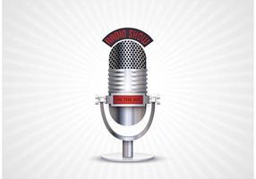 Vector retro de microfone retro