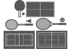 Esportes de raquete vetor