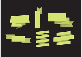 Conjunto de fitas de vetor de Origami