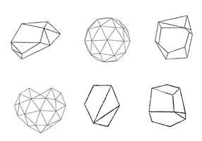 Free Geometrical Shape Set vetor