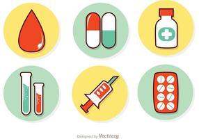 Conjunto de vetores de conjuntos de medicamentos