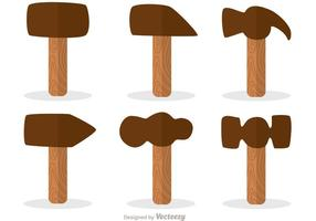 Pacote de vetores de ícones de design liso martelo