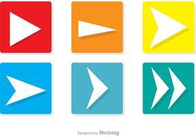 Quadrado próximo ícone pacote de vetores