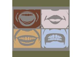 Expressões de rosto e boca vetor