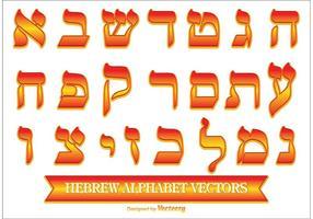 Alphabet Hebraico Decorativo vetor