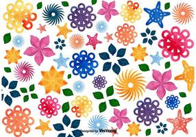 Fundo de mosaico floral vetor