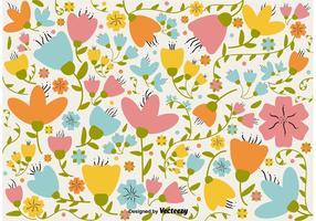 Fundo retro floral vetor