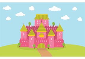 Vetor de castelo de princesa livre