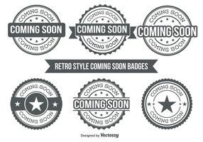 Em breve Badges vetor