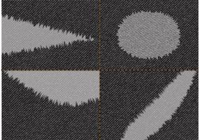 Vetor de tecido de jeans preto rasgado livre