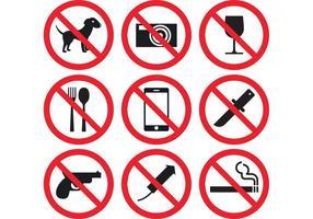 Vetores de sinal de proibição