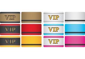 Cartões VIP vetor