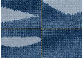Tecido de jeans livre rasgado vetor