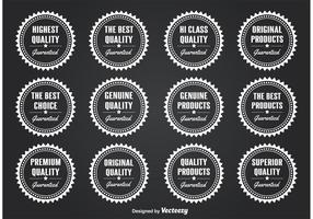 Selos / distintivos de qualidade vetor