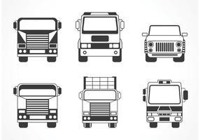 Silhueta de caminhão e carro grátis do vetor