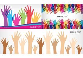 Banners das mãos auxiliares vetor