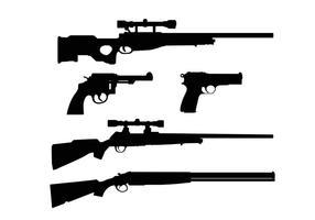 Formas de armas vetor