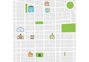 Vector do mapa da cidade
