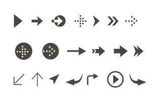 Conjunto de ícones de ícones de seta de vetores grátis