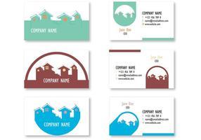 Cartões de visita imobiliários minimalistas vetor