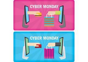 Banners da segunda-feira do Cyber vetor