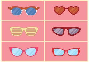 Vetores de óculos na moda