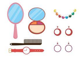Pacote de Vector de Maquiagem e Acessórios