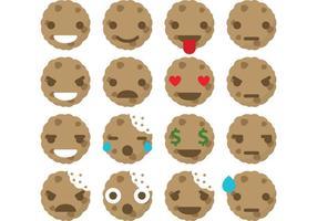 Vetores de emoticons de cookies