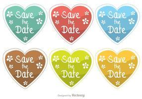 Salvar os vetores do coração da data