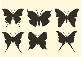 Silhuetas de vetores de borboleta grátis
