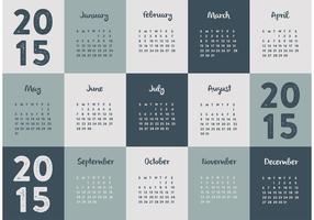 Calendário 2015 vetor